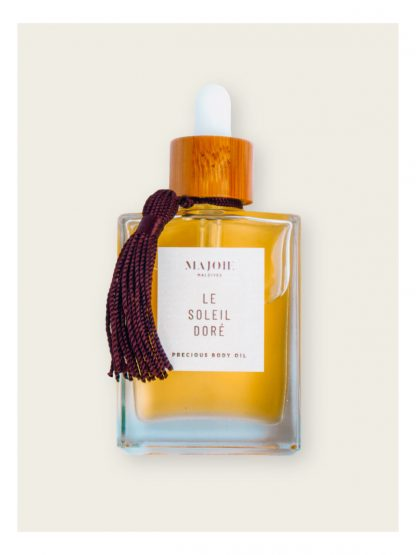Le soleil Doré precious body oil made in maldives to empower women in local islands