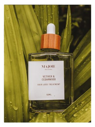 majoie maldives vetiver cedarwood hair loss treatment